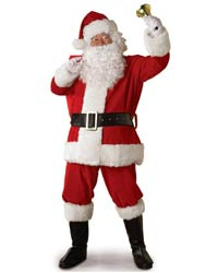 cheap plush santa suit costume