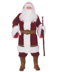 old world santa suit costume