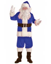 flannel plush santa suit costume